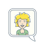 Chat bubble with avatar Stock Image