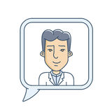 Chat bubble with avatar Stock Photography