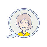 Chat bubble with avatar Royalty Free Stock Photos