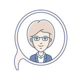 Chat bubble with avatar Royalty Free Stock Image