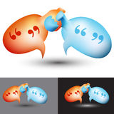Chat Bubble Handshake Royalty Free Stock Photo