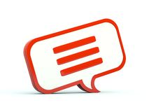 Chat bubble icon Royalty Free Stock Images