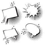 Chat Bubble Icon Set Pop Art Style Social Media Communication Royalty Free Stock Photo