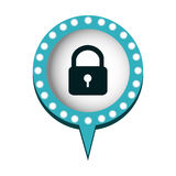 chat bubble with padlock icon Royalty Free Stock Photography