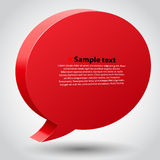 Chat bubble with place for text. Vector illustration Royalty Free Stock Photography