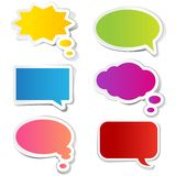 Chat Bubble Sticker. Illustration of chat bubble in paper sticker style Royalty Free Stock Photography
