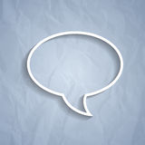 Chat bubble symbol on grey background Stock Image