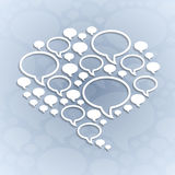 Chat bubble symbol on light grey background Stock Photos