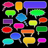 Chat Bubbles. Color Chat Bubbles on a black background stock illustration