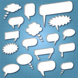 Chat Bubbles. Image of various chat bubbles on a blue background vector illustration
