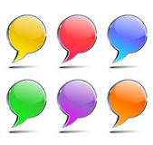 Chat bubbles Stock Images