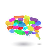 Chat Bubbles. Image of various colorful chat bubbles isolated on a white background Royalty Free Stock Image