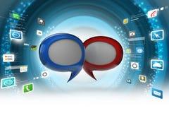 Chat bubbles. 3d illustration of Chat bubbles Stock Photos