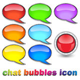 Chat bubbles icon Stock Photo