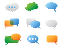 Chat Bubbles icon set Stock Photo