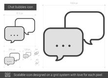 Chat bubbles line icon. Chat bubbles vector line icon isolated on white background. Chat bubbles line icon for infographic, website or app. Scalable icon Stock Photography