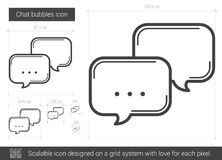 Chat bubbles line icon. Chat bubbles vector line icon isolated on white background. Chat bubbles line icon for infographic, website or app. Scalable icon Royalty Free Stock Images