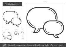 Chat bubbles line icon. Chat bubbles vector line icon isolated on white background. Chat bubbles line icon for infographic, website or app. Scalable icon Royalty Free Stock Image