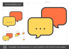 Chat bubbles line icon. Chat bubbles vector line icon isolated on white background. Chat bubbles line icon for infographic, website or app. Scalable icon Stock Images