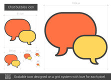 Chat bubbles line icon. Chat bubbles vector line icon isolated on white background. Chat bubbles line icon for infographic, website or app. Scalable icon Royalty Free Stock Photo