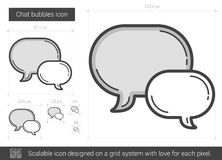 Chat bubbles line icon. Chat bubbles vector line icon isolated on white background. Chat bubbles line icon for infographic, website or app. Scalable icon Royalty Free Stock Photography