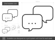Chat bubbles line icon. Chat bubbles vector line icon isolated on white background. Chat bubbles line icon for infographic, website or app. Scalable icon Stock Photo