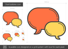 Chat bubbles line icon. Chat bubbles vector line icon isolated on white background. Chat bubbles line icon for infographic, website or app. Scalable icon Stock Photos