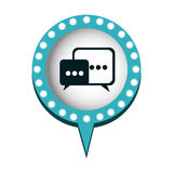 chat bubbles message icon Royalty Free Stock Photo