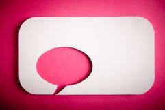 Chat bubbles. Paper cut design Stock Photos