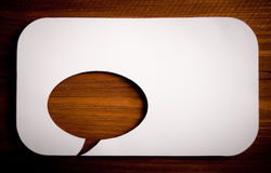 Chat bubbles. Paper cut design Royalty Free Stock Image