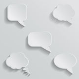 Chat bubbles - paper cut design. White color on Royalty Free Stock Image