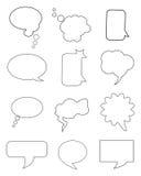 Chat bubbles. Set of plain & simple chat/idea bubbles for your design Royalty Free Stock Photo