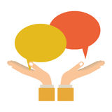 Chat bubbles speakbox. Icon  illustration graphic design Stock Photo