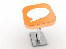 Chat Button Royalty Free Stock Photography