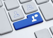 Chat button Stock Photography