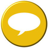 Chat Button royalty free illustration