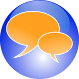 Chat button Royalty Free Stock Photo