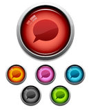 Chat button icon Royalty Free Stock Image