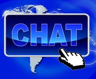 Chat Button Represents World Wide Web And Telephone Royalty Free Stock Photos