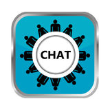 Chat button Royalty Free Stock Image