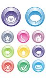 Chat Buttons, Contact, Email, Home, arrows Stock Photos