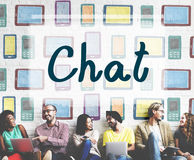 Chat Chatting Communication Connecting Ideas Concept Royalty Free Stock Photos