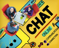 Chat Chatting Communication Social Media Internet Concept.  royalty free stock photos
