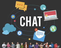 Chat Chatting Online Messaging Technology Concept Stock Image