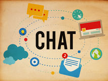 Chat Chatting Online Messaging Technology Concept Royalty Free Stock Photography