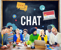 Chat Chatting Online Messaging Technology Concept Royalty Free Stock Photos