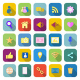 Chat color icons with long shadow Royalty Free Stock Photography
