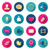 Chat color icons set. Royalty Free Stock Photo