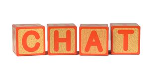 Chat - Colored Childrens Alphabet Blocks. Stock Images