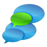 Chat communication Bubbles Stock Image